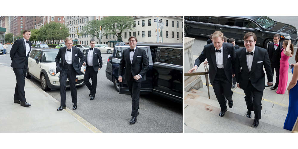 st ignatius loyola entrance, church wedding,  nyc groomsmen, candid photography