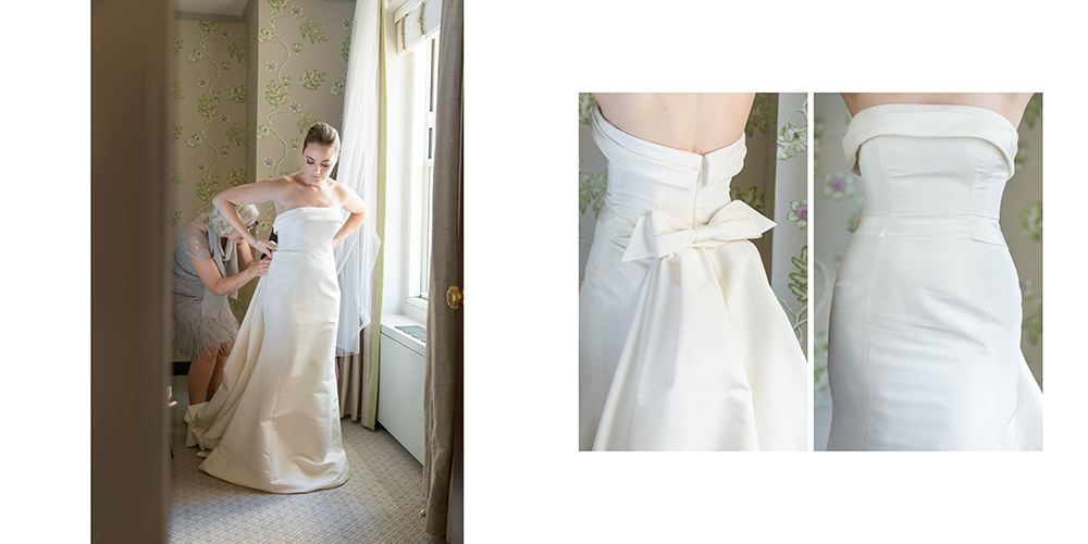 carolina herrera, ny wedding, yale club wedding, bridal portrait, bride prep, classic bride