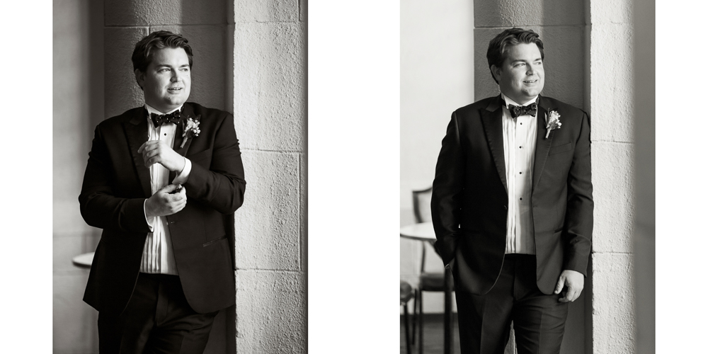black and white photographer,  ny wedding, yale club wedding, groom prep, yale rooms