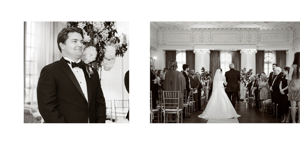 yale club, classic wedding, ny wedding, yale club wedding, ceremony, the lounge