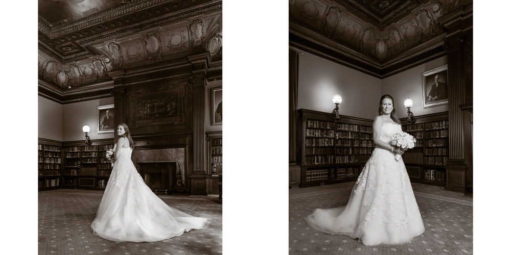 classic bride, black and white photography, metropolitan club wedding, candid photography